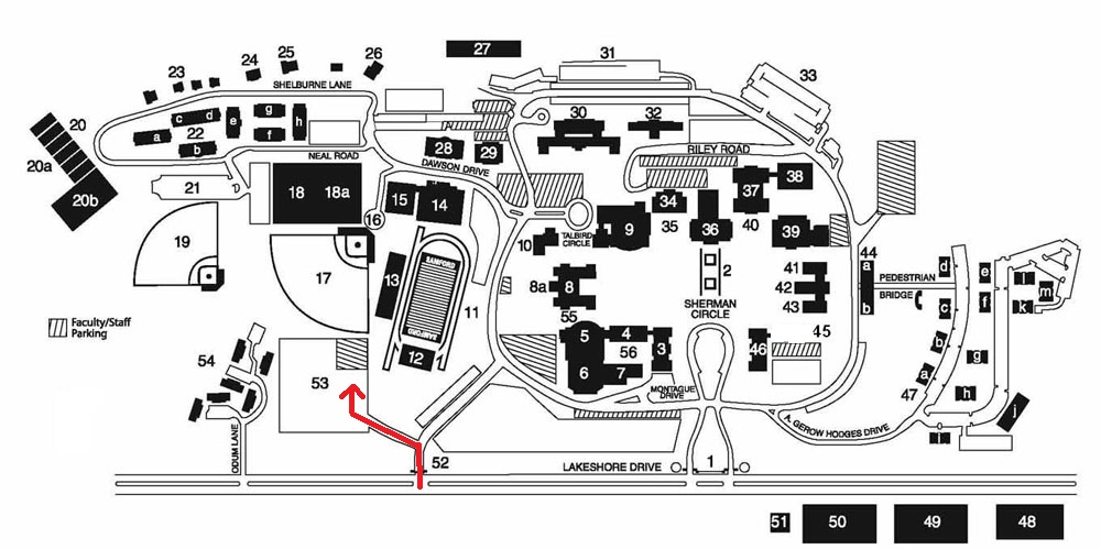 Samford Campus Map – Directions to South Stadium « The Arc of