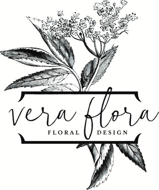 vera flora floral design logo
